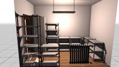 Raumgestaltung Abstellkammer in der Kategorie Küche