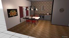 Raumgestaltung barrierefreie Küche  in der Kategorie Küche