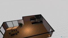 Raumgestaltung beliebige küche mit wohzimmer in der Kategorie Küche
