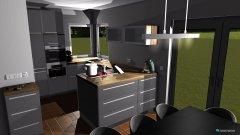Raumgestaltung grau - Insel in der Kategorie Küche