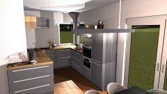 Raumgestaltung grau - offen in der Kategorie Küche