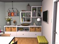 Raumgestaltung Grundrissvorlage Eckraum in der Kategorie Küche