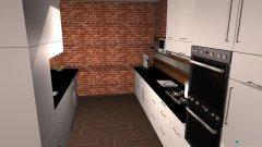 Raumgestaltung Grundrissvorlage Loft-Raum Küche in der Kategorie Küche