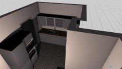 Raumgestaltung Kleine Wonhküche tür in der Kategorie Küche