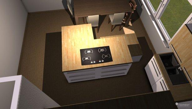 Raumgestaltung Küche 2 mit Schrank in der Kategorie Küche