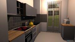 Raumgestaltung Küche in grün in der Kategorie Küche