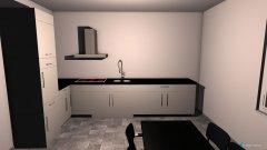 Raumgestaltung Küche mit Maßen in der Kategorie Küche