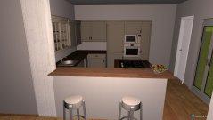 Raumgestaltung Küche mit Tresen und Esszimmer in der Kategorie Küche
