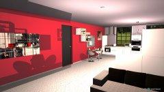 Raumgestaltung Küche modern schwarz weiß in der Kategorie Küche