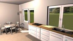 Raumgestaltung Küche ohne Kammer in der Kategorie Küche