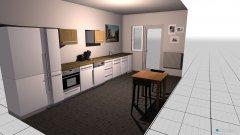 Raumgestaltung Küche ohne Oberschrank in der Kategorie Küche