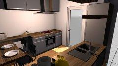 Raumgestaltung Küche Variante 1 in der Kategorie Küche