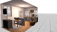 Raumgestaltung Lenas Küche und Frühstücksraum in der Kategorie Küche