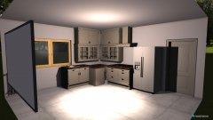 Raumgestaltung lodówka przy drzwiach in der Kategorie Küche