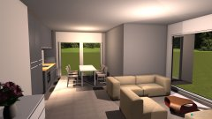 Raumgestaltung Mario V09-Wohnbereich MIT afugebauter Mauer - nicht vewenden in der Kategorie Küche