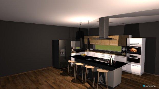 Raumgestaltung modern kitchen in der Kategorie Küche