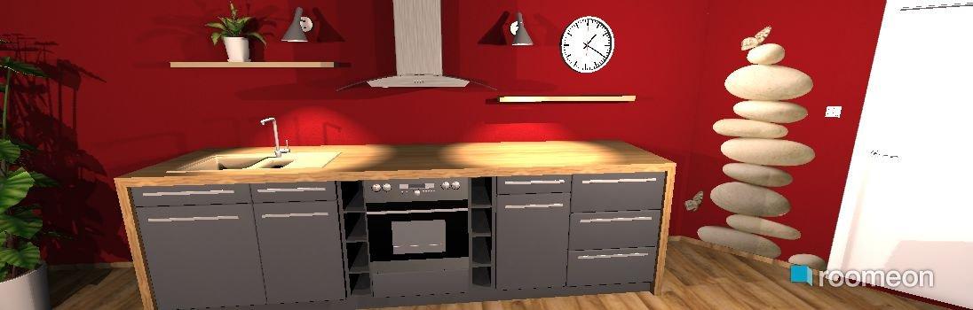 raumplanung rote k che roomeon community. Black Bedroom Furniture Sets. Home Design Ideas