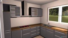 Raumgestaltung U-FÖRMIGE KÜCHE + WOHNZIMMER in der Kategorie Küche