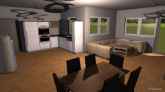 Raumgestaltung Wohn-Esszimmer Küche in der Kategorie Küche