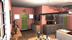 Raumgestaltung Wohn-Küche 2 in der Kategorie Küche