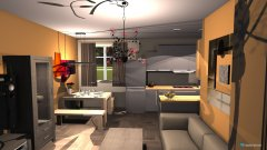 Raumgestaltung Wohn-Kücher 1 in der Kategorie Küche