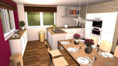 Raumgestaltung Wohnküche in der Kategorie Küche