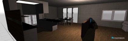 Raumgestaltung wohnzimmer-Küche in der Kategorie Küche