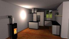 Raumgestaltung Wohnzimmer und Küche in der Kategorie Küche
