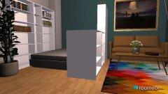 Raumgestaltung 1 Zimmer Apartement mit Wohnküche 2 in der Kategorie Schlafzimmer