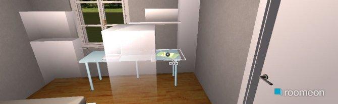 Raumgestaltung Appartment I (Schlaf- Arbeitszimmer) in der Kategorie Schlafzimmer