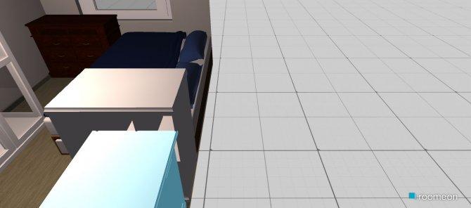 Raumgestaltung Arbeitszimmer Schlafzimmer in der Kategorie Schlafzimmer