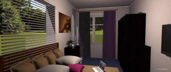 Raumgestaltung Bett links in der Kategorie Schlafzimmer