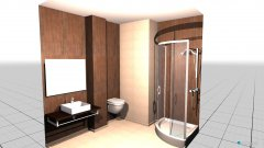 Raumgestaltung brown bathroom with shower brown f in der Kategorie Schlafzimmer