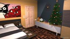 Raumgestaltung christmas bedroom in der Kategorie Schlafzimmer