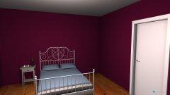 Raumgestaltung ein traum in fliederfarbe in der Kategorie Schlafzimmer