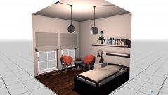 Raumgestaltung Einbettzimme in der Kategorie Schlafzimmer