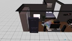 Raumgestaltung elegantes Schlaf- & Arbeitszimmer in der Kategorie Schlafzimmer