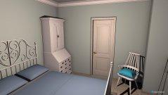Raumgestaltung Gästezimmer (mit Kommode statt Kleiderschrank) in der Kategorie Schlafzimmer