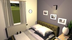 Raumgestaltung grau grün weiß in der Kategorie Schlafzimmer