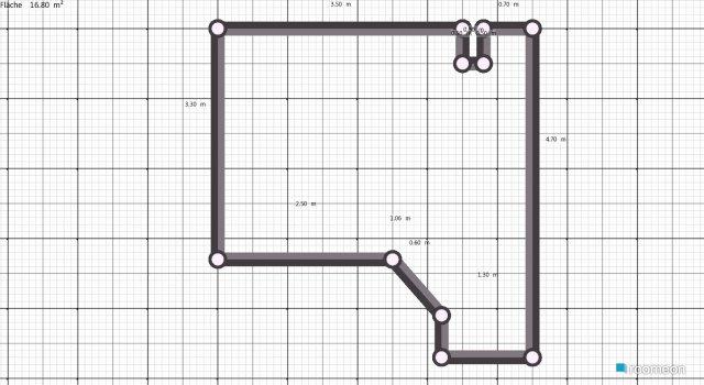 Raumgestaltung groß-schräge in der Kategorie Schlafzimmer
