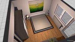 Raumgestaltung Großer Raum am Balkon als Büro in der Kategorie Schlafzimmer