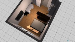 Raumgestaltung großer Raum in der Kategorie Schlafzimmer