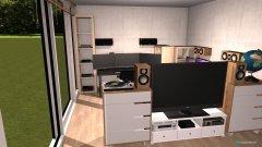 Raumgestaltung Grundrissvorlage Loft-Raum in der Kategorie Schlafzimmer