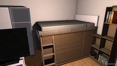 Raumgestaltung Hochbett in der Kategorie Schlafzimmer