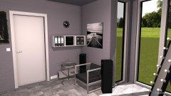 Raumgestaltung Jugendzimmer modern schwarz weiß in der Kategorie Schlafzimmer