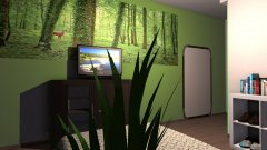 Raumgestaltung Kaki Schlafzimmer in der Kategorie Schlafzimmer