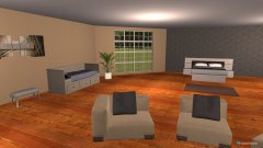 Raumgestaltung kamer 3 gastehuis in der Kategorie Schlafzimmer