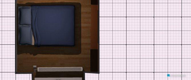Raumgestaltung kleines Zimmer Variante 1 in der Kategorie Schlafzimmer