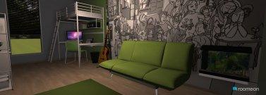 Raumgestaltung lime green boys room in der Kategorie Schlafzimmer