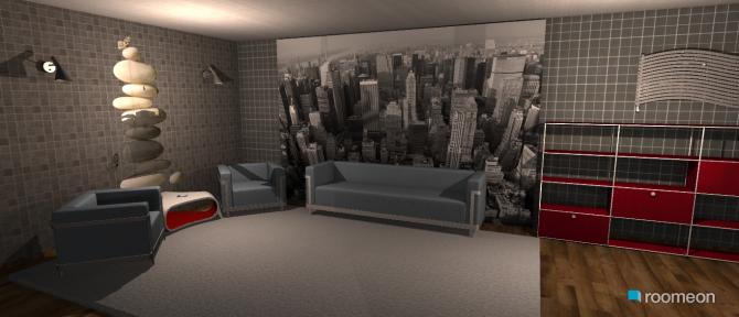 Raumgestaltung Modern One Room House in der Kategorie Schlafzimmer